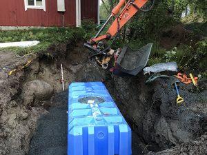 Jätevesijärjestelmän asennus - Maanrakennennut T. Virtanen, Tampere